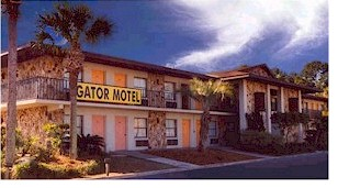 Front Of Gator Motel In Kissimmee Florida